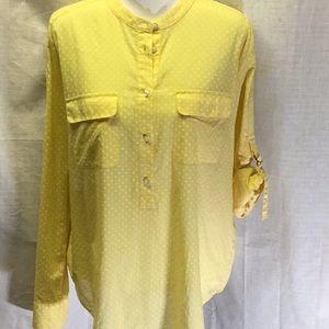🍍Ann Taylor light weight cotton button down shirt